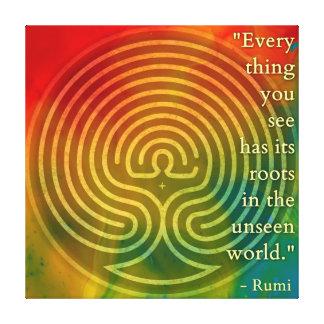 Rumi de appartenance et art poétique toile