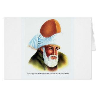 Rumi la manière vous faites des cartes de tee -