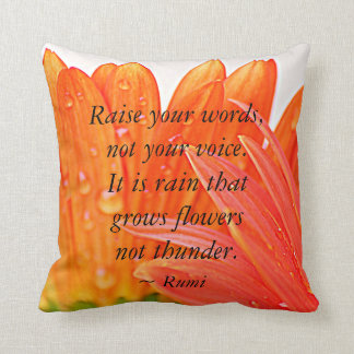 Rumi :  Soulevez vos mots….Marguerite orange de Oreiller