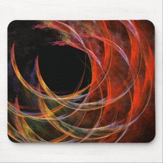 Rupture de l'art abstrait Mousepad de cercle Tapis De Souris