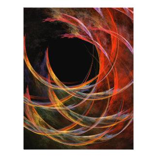 Rupture de l'insecte d'art abstrait de cercle prospectus 21,6 cm x 24,94 cm