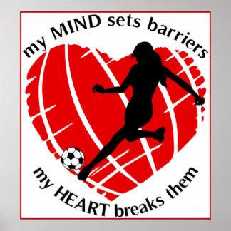 Rupture de Madame Soccer Poster de barrières