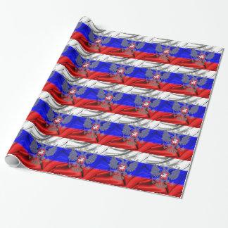 russe-drapeau papier cadeau