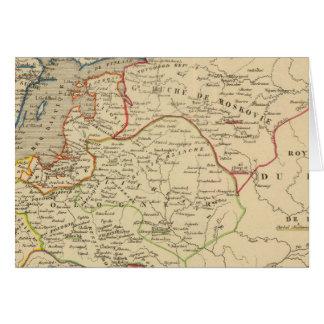 Russie, Pologne, suède, Norwege, Danemarck Carte De Vœux