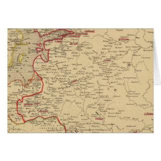 Russie, Pologne, suède, Norwege, en 1840 de Carte De Vœux