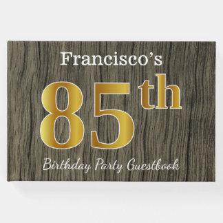 Rustique, fête d'anniversaire d'or de Faux 85th ; Livre D'or