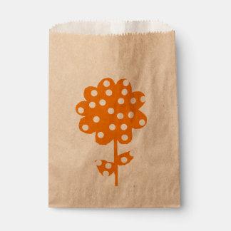 Rustique floral orange sachets en papier