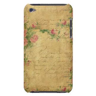 rustique, Parchement, porté, floral, lettres, cru, Coque Case-Mate iPod Touch
