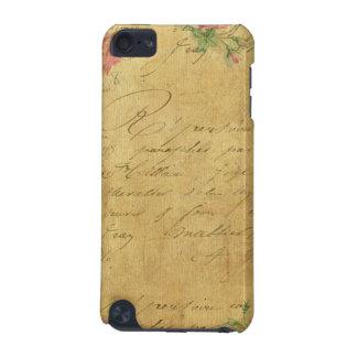 rustique, Parchement, porté, floral, lettres, cru, Coque iPod Touch 5G