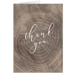 Rustiques en bois vous remercient - carte pliée