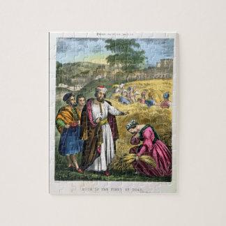 Ruth dans le domaine de Boaz, d'une bible imprimée Puzzle