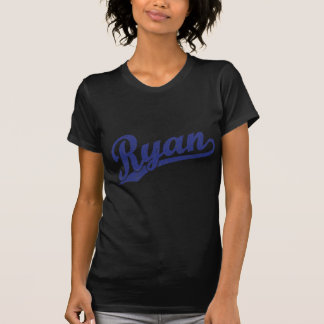 Ryan a affligé le logo bleu de manuscrit t-shirt