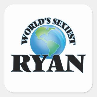Ryan le plus sexy du monde autocollants carrés