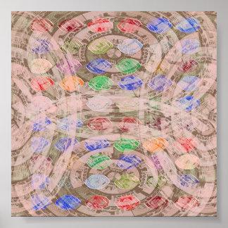 Rythme cosmique - vibrations de cristal de Chakra Poster
