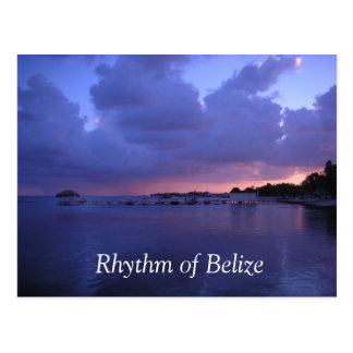 Rythme de carte postale de Belize San Pedro