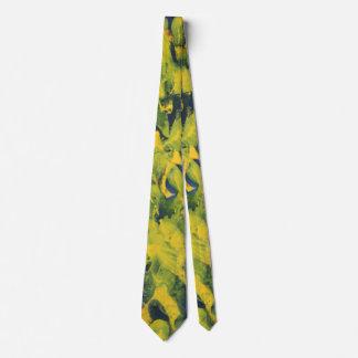Rythmes dans jaune et le bleu cravate