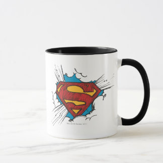S-Bouclier | de Superman dans le logo de nuages Mug