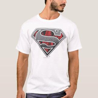S-Bouclier logo gris et rouge de   de Superman de T-shirt