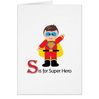 S est pour la carte de voeux adorable de lettres