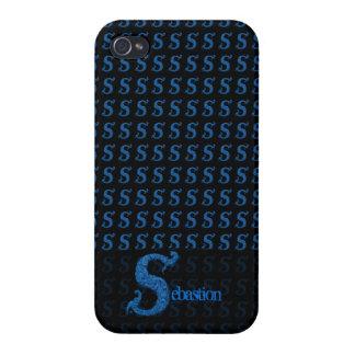 S - L alphabet de Falck bleu Étuis iPhone 4