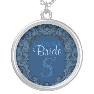 S - L alphabet de Falck bleu mariage Colliers Personnalisés
