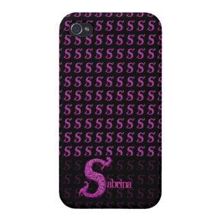 S - L alphabet de Falck rose Coques iPhone 4