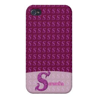 S - L alphabet de Falck rose Coques iPhone 4/4S