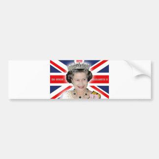 S.M. la Reine Elizabeth II - pro photo Autocollants Pour Voiture