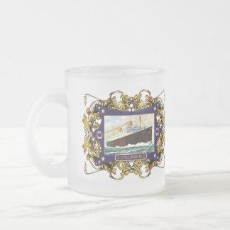 S.S. Paquebot vintage de paquebot de Columbus Mug En Verre Givré