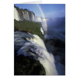 SA, Brésil, Iguassu tombe des automnes avec Carte De Vœux