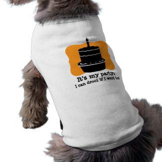 Sa ma chemise drôle de chien d'anniversaire t-shirt pour chien