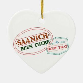 Saanich là fait cela ornement cœur en céramique