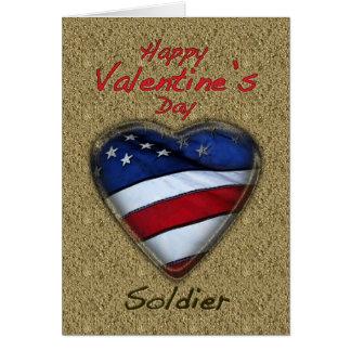 Sable de soldat de Valentine patriotique Carte De Vœux