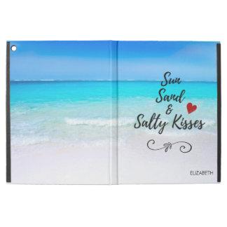 """Sable de Sun et plage tropicale de baisers salés iPad Pro 12.9"""" Case"""