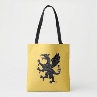 Sable effréné de dragon tote bag