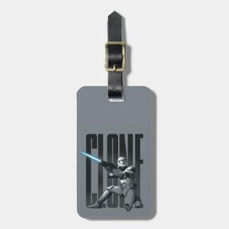 Sableuse de soldat de la cavalerie de clone étiquette de bagages