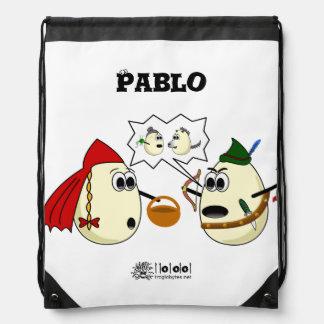 sac à dos avec un dessin qui résume «Caperucita R