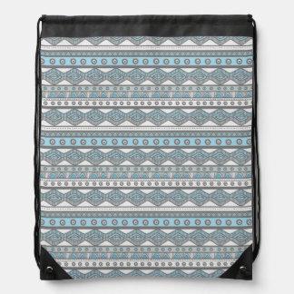 Sac à dos aztèque à la mode Girly bleu en pastel