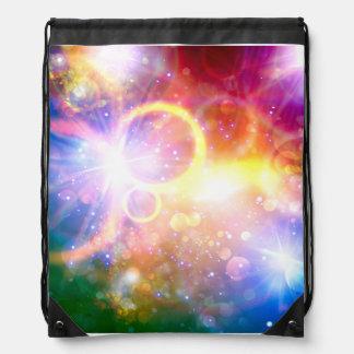 Sac à dos coloré de cordon de galaxie de Starburst