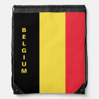 Sac à dos de cordon de drapeau de la Belgique