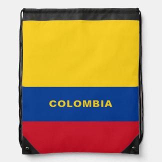 Sac à dos de cordon de drapeau de la Colombie