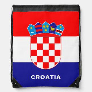 Sac à dos de cordon de drapeau de la Croatie