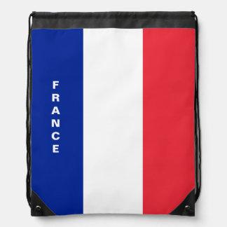 Sac à dos de cordon de drapeau de la France