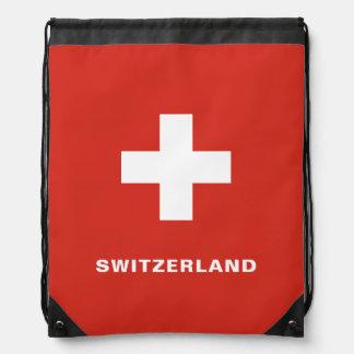 Sac à dos de cordon de drapeau de la Suisse