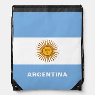 Sac à dos de cordon de drapeau de l'Argentine