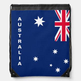 Sac à dos de cordon de drapeau de l'Australie
