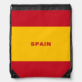 Sac à dos de cordon de drapeau de l'Espagne