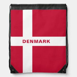 Sac à dos de cordon de drapeau du Danemark