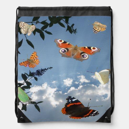 Sac à dos néerlandais de cordon de papillons
