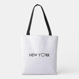 Sac à provisions noir et blanc de Manhattan New
